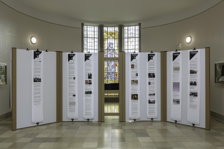 De tentoonstelling Erasmiaanse Namen op het Erasmiaans Gymnasium.